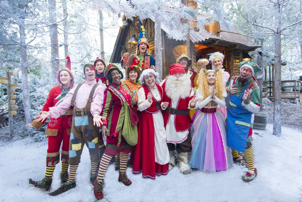 group of characters at lapland