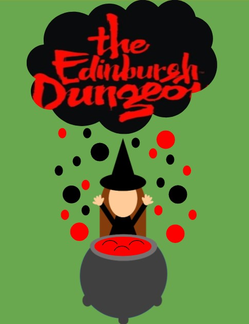 witch and cauldron and the edinburgh dungeon logo