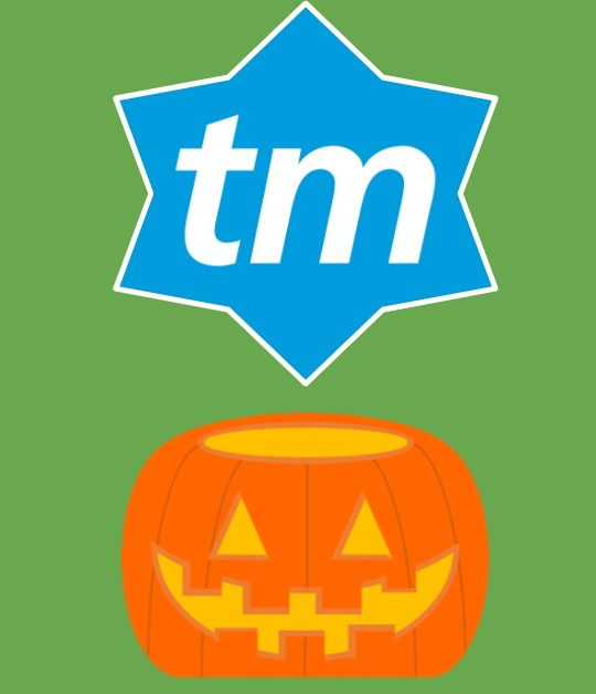 ticketmaster logo and cartoon pumpkin