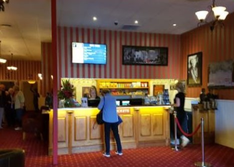 refreshments counter in academy gold cinema