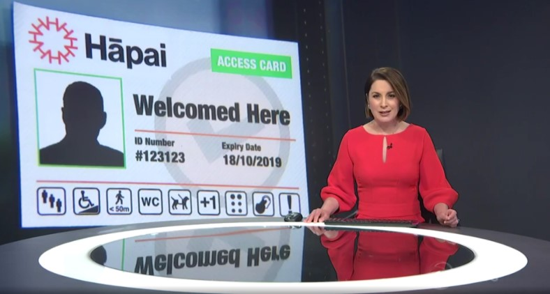 news presenter and the hapai access card
