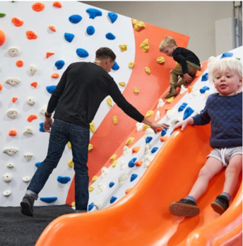 childrens play at Bouldering, Gym, Yoga Studio and Café