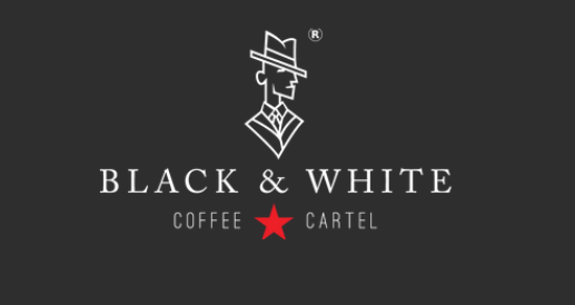 black and white coffee cartel logo