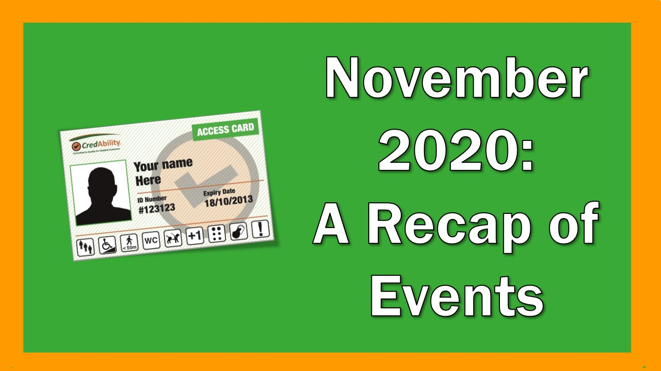 november 2020 recap of events