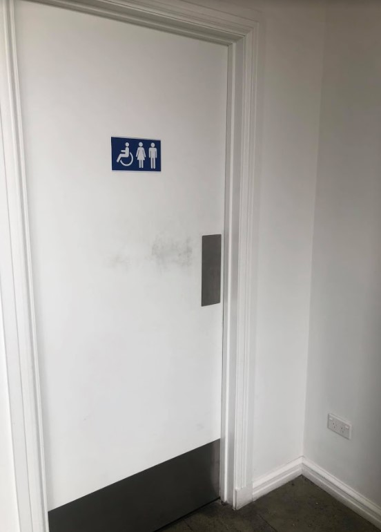 accessible toilet at black and white coffee cartel rolleston
