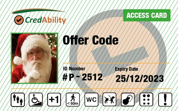 access card offer code with santa
