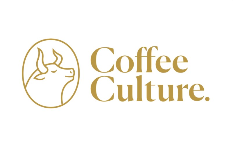 coffee culture logo including bull
