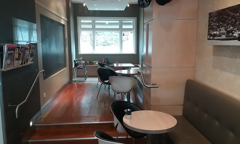 inside seating area at cafe