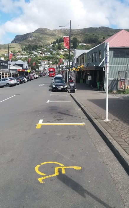 accessible on street parking