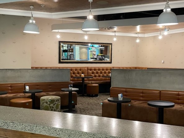 inside seating areas in cafe