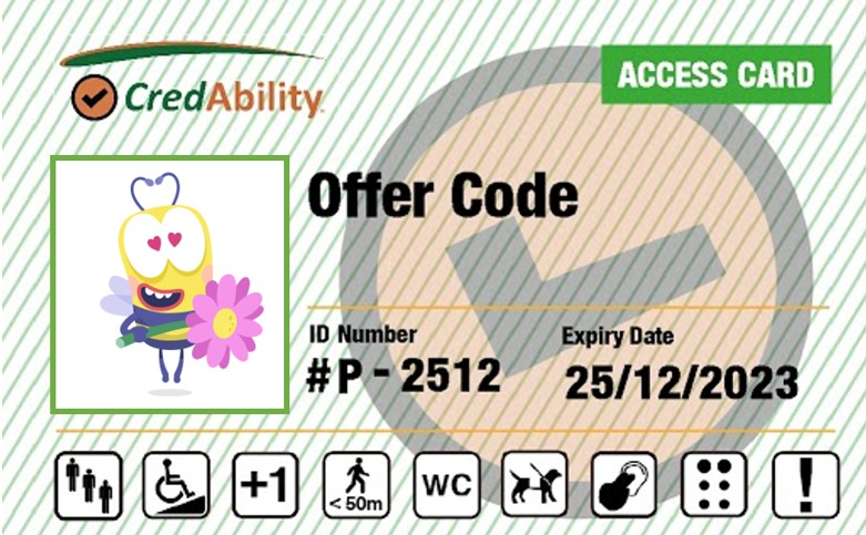 access card with bee on front