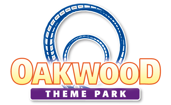 oakwood theme park and outline of rollercoaster