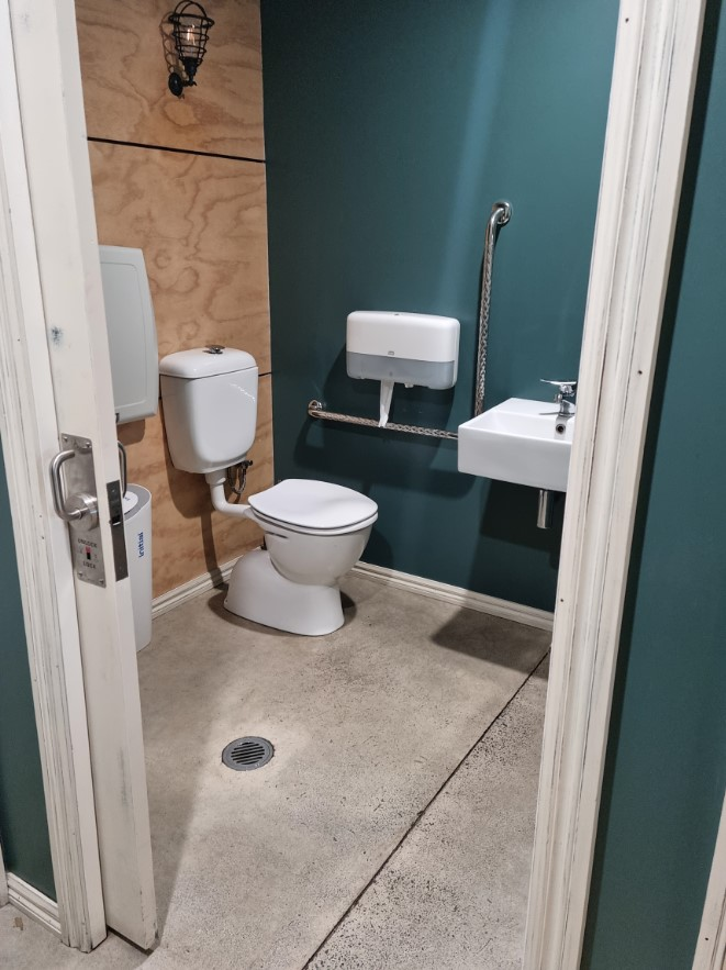 view of accessible toilet facilities