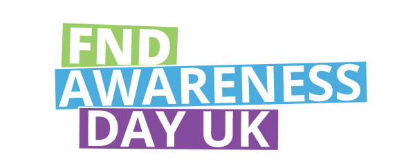 fnd awareness day uk white text on green blue and purple backgrounds