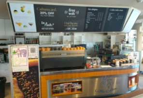 food counter at coffee culture beckenham