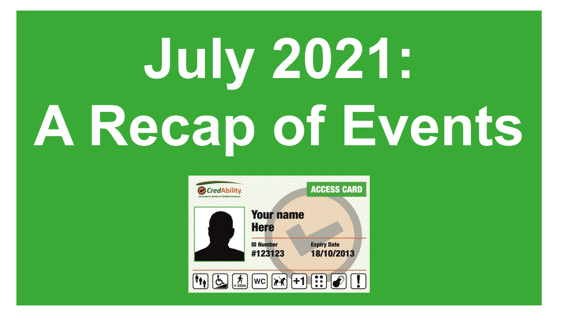 july 2021 recap of events graphic